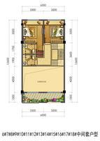 联排别墅6#-18#中间套户型2层