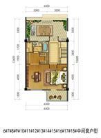 联排别墅6#-18#中间套户型3层