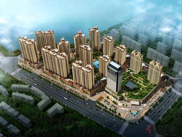 东湖城俯瞰图