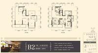 龙光玖珑�_B2户型3室2厅2卫89.00�O