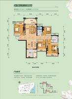 广汇东湖城6#-02户型3室2厅2卫120.00�O
