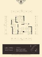 凤凰天誉116.81㎡三房户型图