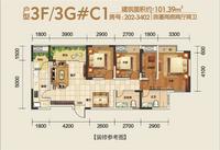 户型3F/3G栋C1