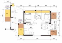 2室2厅1厨1卫1号楼A座E户型