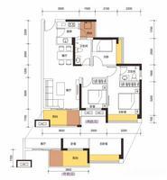 3室2厅1厨2卫1号A座BC/户型