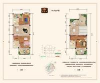 御珑府联排BcBg2户型(二层和三层)4室3厅4卫230.21�O