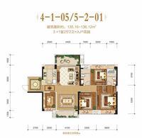 盛世嘉园4-1-05/5-2-014室2厅2卫135.16�O