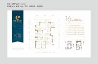 绿城・春江明月K1-234�O(建面)5房3厅户型0室0厅3卫0.00�O
