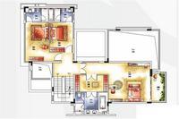 C户型341㎡别墅二层