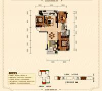 正元清水湾C户型3室2厅2卫132.06�O