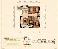 正元清水湾A1户型4室2厅2卫164.26�O