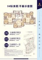 3#楼标准层平面示意图