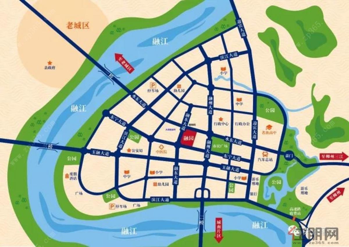 荣森·融园 交通图