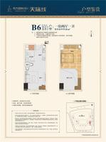 B6户型 1房2厅1卫