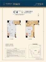 C4户型 3房2厅2卫