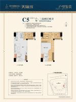 C5(28-29层)户型 3房2厅2卫
