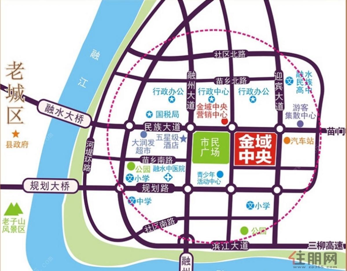 金域中央 交通图