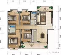 建筑面积:140.95㎡-141.21㎡