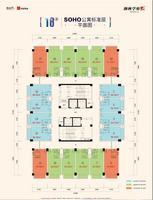 18栋SOHO公寓标准层平面图