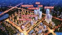 绿地中央广场效果图|规划夜景图
