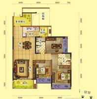 天润一号三房两厅两卫3室2厅2卫129.00�O