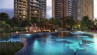 唐樾青山效果图|园林泳池