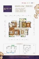 檀府・印象118�O户型4室2厅2卫118.00�O