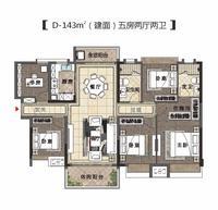 D-143㎡户型(建面)五房两厅两卫