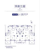 19-2洋房三层户型图