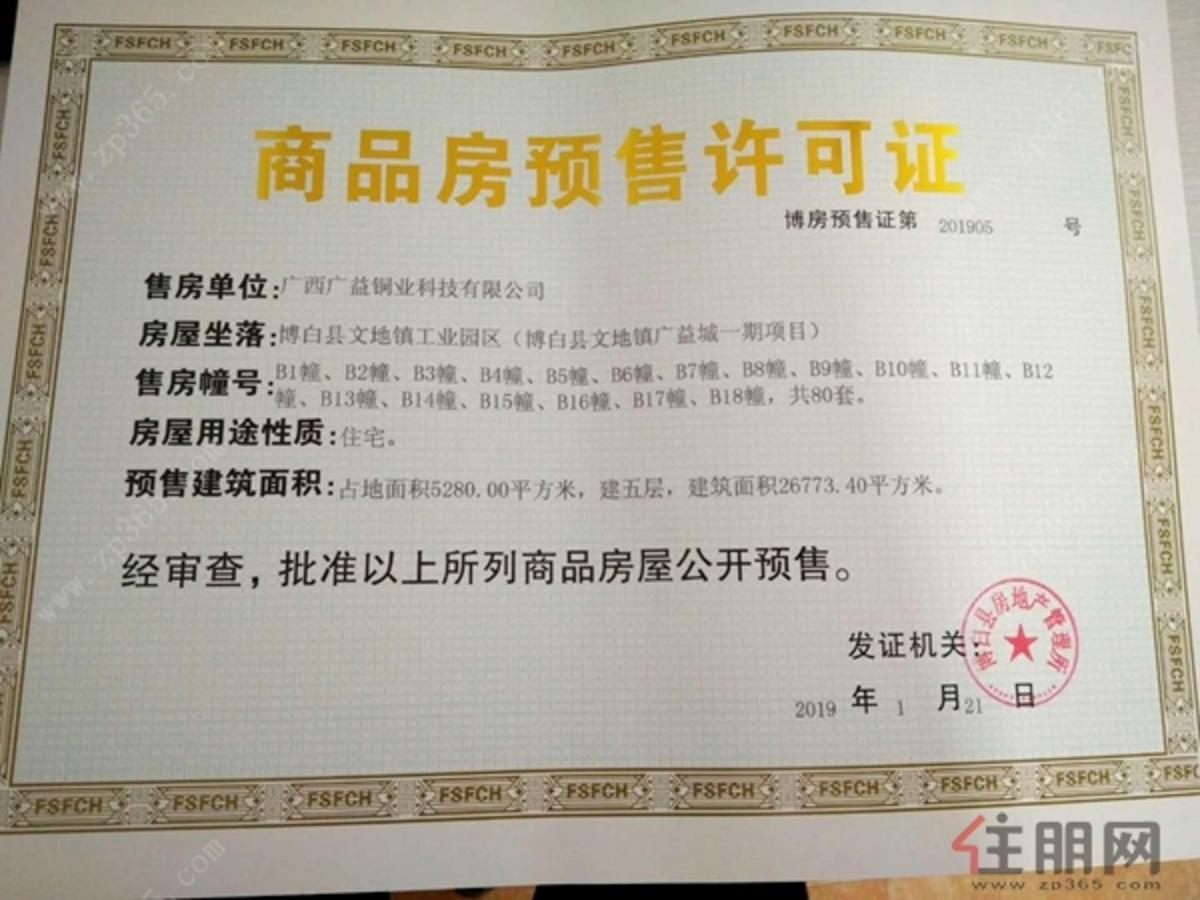 项目预售证