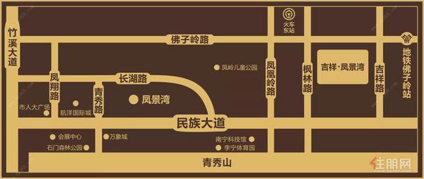 吉祥凤景湾交通图