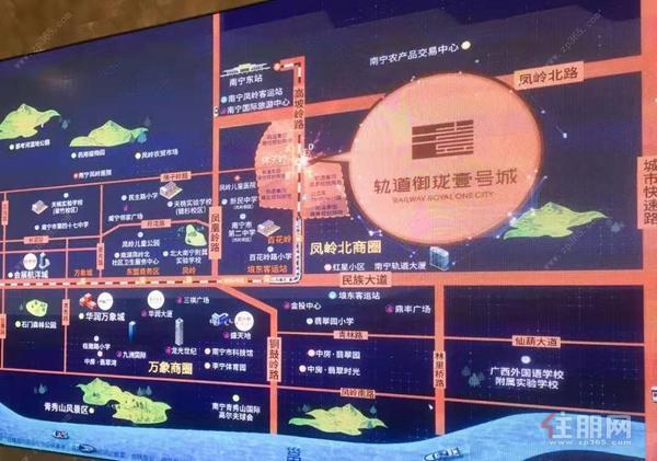 轨道壹号城区位图