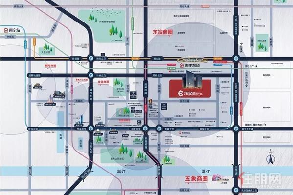 荣和•东站城市广场项目区位图