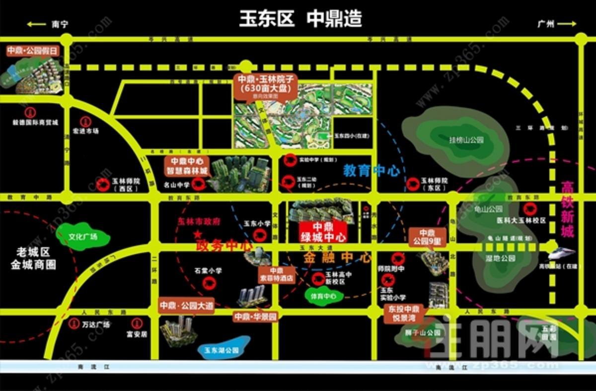 中鼎集团区位图