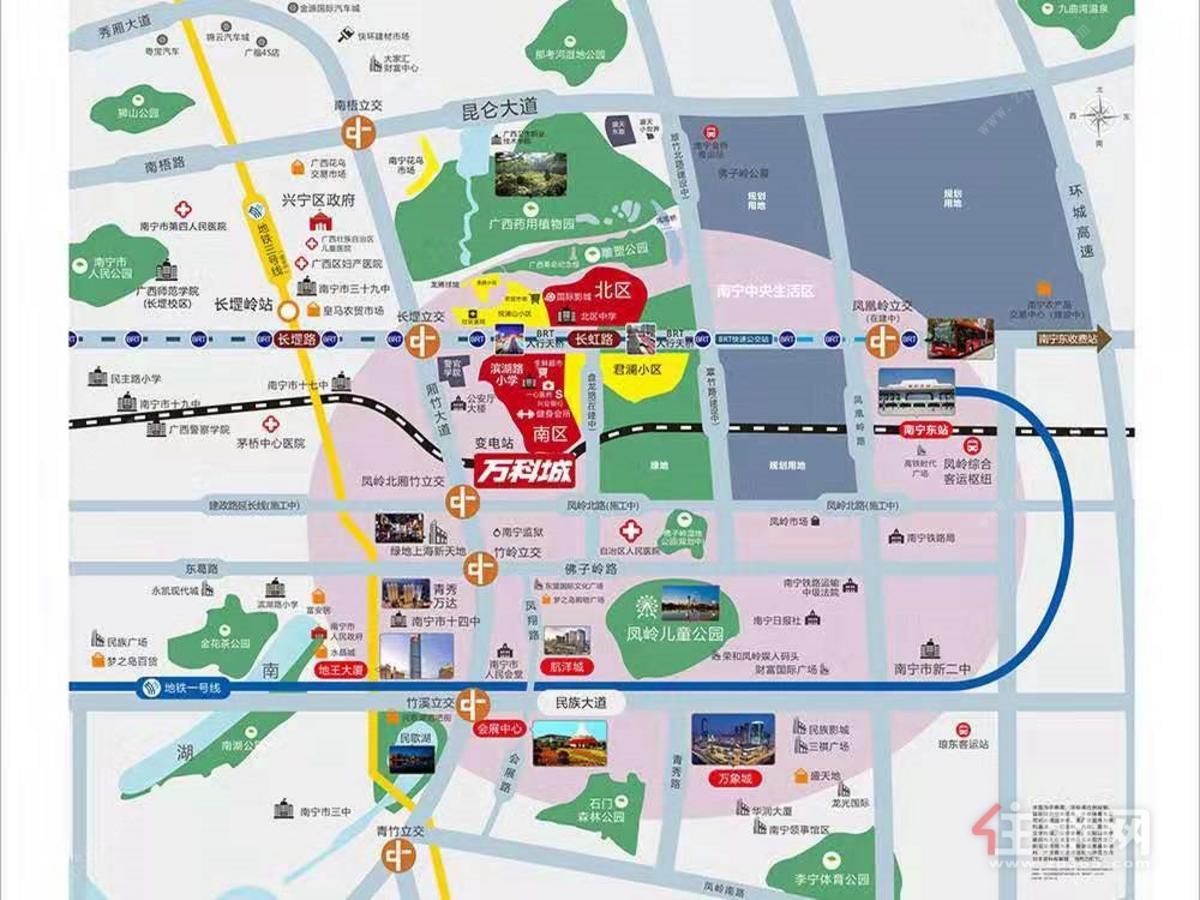 萬科城區位圖