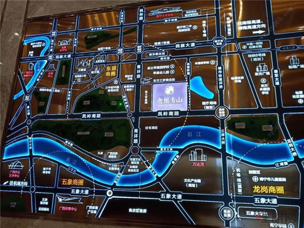 唐樾青山區位圖