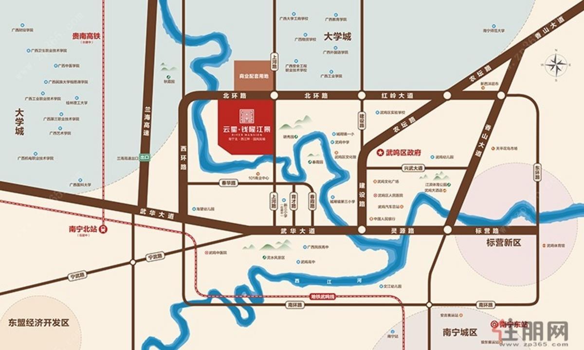 钱隆江景-区域图