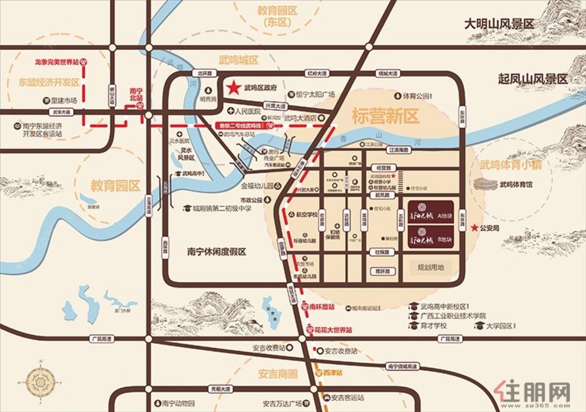 富鸣·阳光城区位图