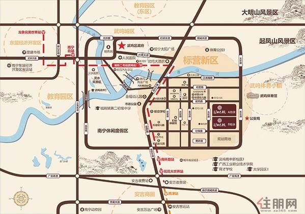 富鳴·陽光城區位圖