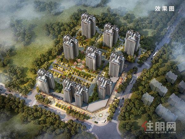 中梁國賓熙岸鳥瞰圖