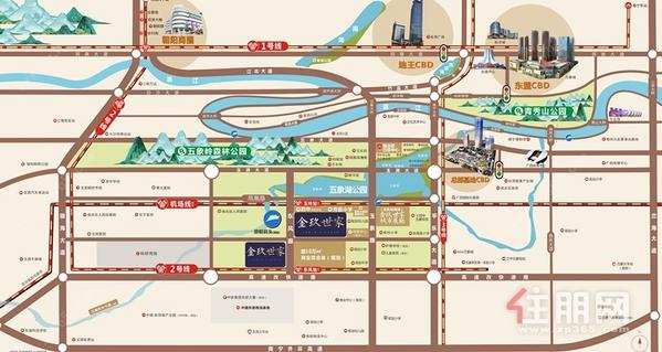 五象湖·金玖世家区位图