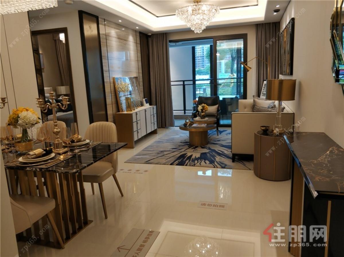 龍光·江南院子89㎡客廳及餐廳全景