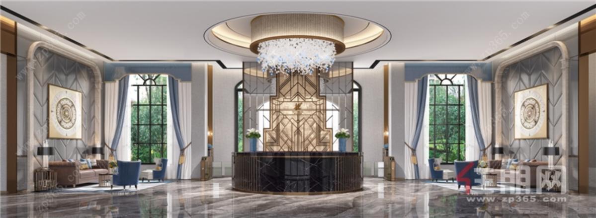 阿尔卑斯项目天鹅堡-城市会客厅效果图