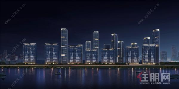 华润置地·西园悦府夜景建筑