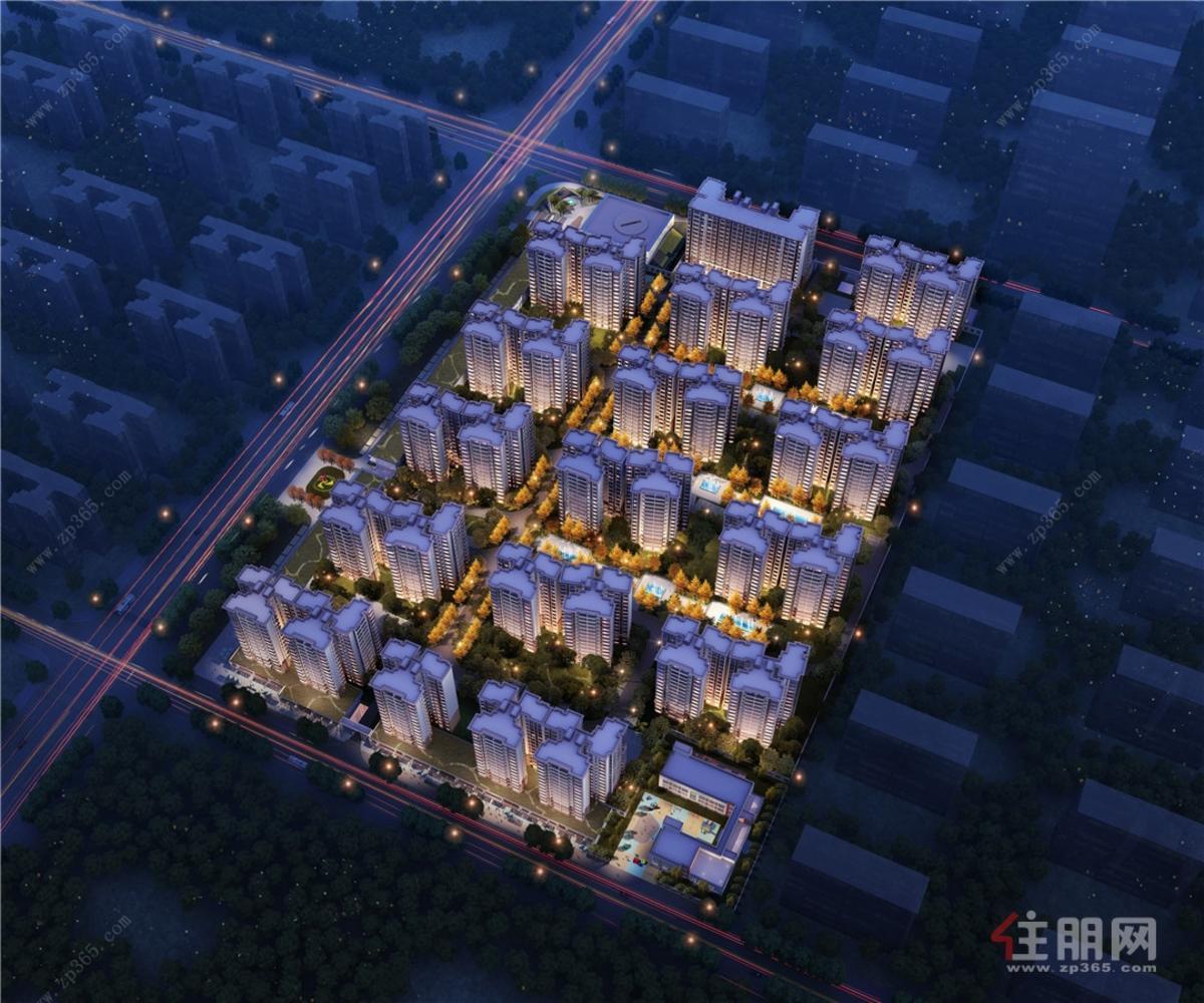 悦桂绿地新世界夜景