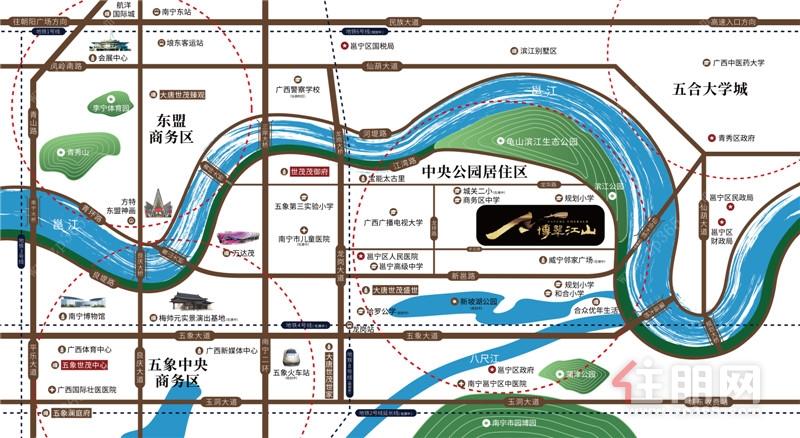 世茂·金科博翠江山区位图