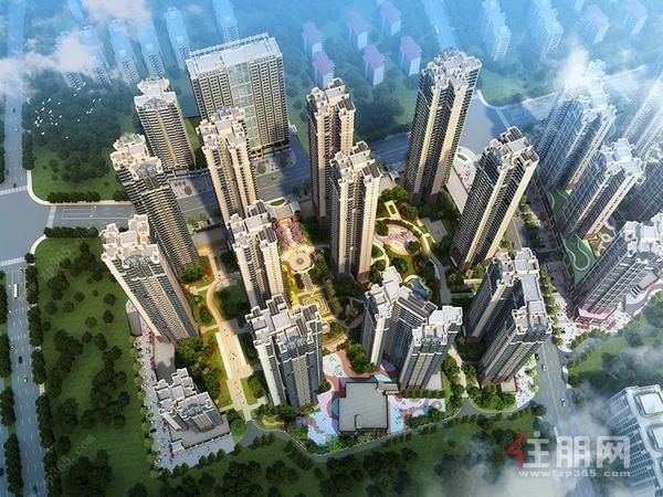 天健城二期鸟瞰图.