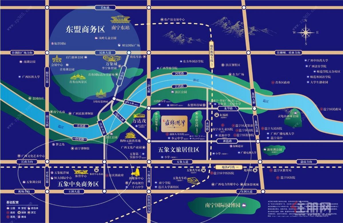 藍光雍景瀾灣區位圖