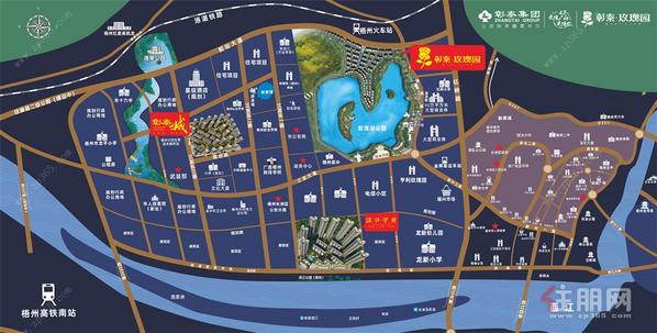 梧州彰泰滨江学府交通图