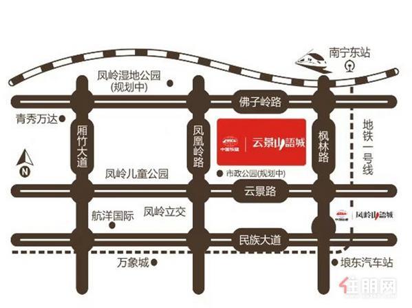 中国铁建·云景山语城区位图